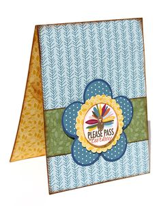 Thanksgiving card featuring Bella Blvd's Thankful products.