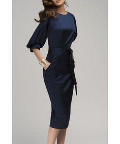 Pencil Dress Pencil Skirt Office Dress Office Clothes Work Clothes Women s  Vintage 50s Retro Navy Dress. Φούστες ... 8e7226aae46