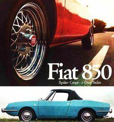 fiat spider fiat fiat and spider 1970 brochure 850 spider sport sedan