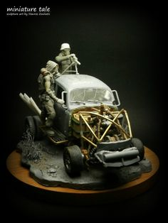 """""""Warboys"""" 1/35 scale. By Stavros Zouliatis. Inspired from Mad Max movie.  #volkswagen #vignette #model_cars #scale_model #Post_Apocalyptic"""
