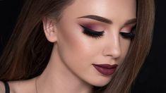 Burgundy makeup look