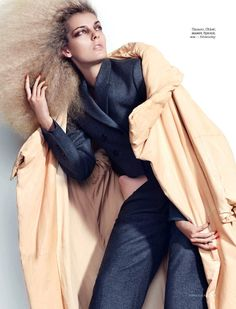 That 60'S Show: Georgia Hilmer By Catherine Servel For Numéro Tokyo November 2014 - coat by Chloe
