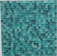 Mosaikfliese-1qm-Matt Türkis-Irregulat Klar Glasmosaik Mosaikfliesen Irregularmosaik