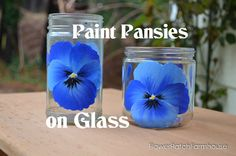 I have showed you how to paint a pansy on other surfaces now come see how I paint pansies on glass. Free video included!