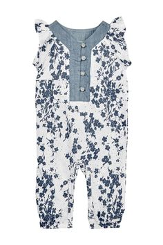 7 For All Mankind | Floral Coverall (Baby Girls) | Nordstrom Rack