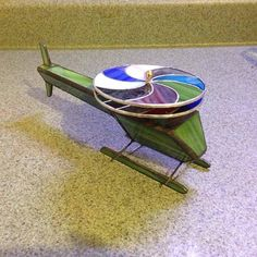 Helicopter Kaleidoscope in Stained Glass by CustomStainedGlassNC, $100.00