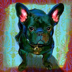 French Bulldog Pet Art Portrait