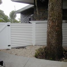 Image result for vinyl horizontal fence