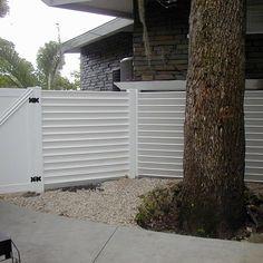 Image result for vinyl horizontal fence