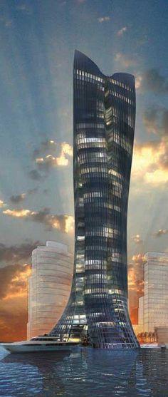 Michael Schumacher World Champion Tower, Dubai, UAE designed by  L-A-V-A  (Laboratory for Visionary  Architecture):