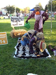 Babywearing scarecrows. 100% doing this next year!