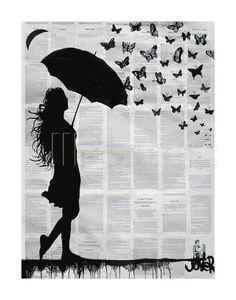 Butterfly Rain Reproducción por Loui Jover en AllPosters.com.ar.