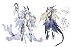 昨天晚上终于放下手柄开了电脑……先来套草图,接下来挨个慢慢更新设定~ (肝到HR49看了一下后面就是无尽的刷刷了,所以剧情结束之后刷到HR100也没有新怪了是吗) Fantasy Character Design, Character Design Inspiration, Character Concept, Character Art, Concept Art, Anime Kunst, Anime Art, Fantasy Characters, Anime Characters