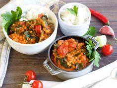Linsen-Kokos-Curry: ein eiweißreiches Gericht zum Sattessen