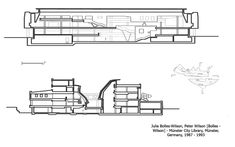 Julia Bolles-Wilson, Peter Wilson [Bolles - Wilson] - Münster City Library, Münster, Germany, 1987 - 1993, sections