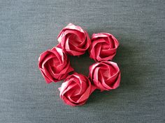 Kawasaki roses made by ArsOrigami - go to www.etsy.com/shop/ArsOrigami