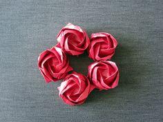 Kawasaki roses made by ArsOrigami - go to www.etsy.com/shop/ArsOrigami