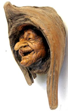 There Was An Old Woman by psychosculptor...........woodcarved driftwood