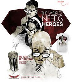 Estampa 'Heroes' no Camiseteria.com. Autoria de rodisley jose da silva. Em votação! http://cami.st/d/52280