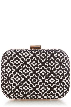 Joy Jacquard Hardcase Clutch...a great little graphic print