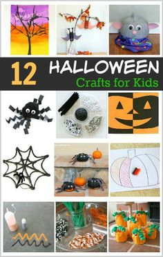 12 Awesome Halloween Crafts for Kids: Make pumpkins, bats, spiders, and more! ~ BuggyandBuddy.com