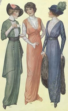 1914 women's fashion | Source: Ladies Home Journal (January, 1914)