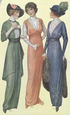 1914 women's fashion | Source: Ladies Home Journal (January, 1914)