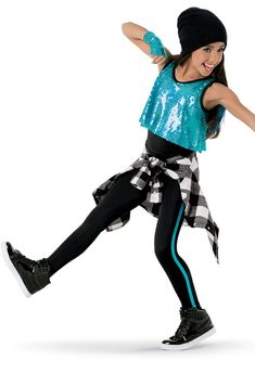 I Love A Rainy Night - Just Turquoise Top, Black Shorts, and Yellow Umbrellas 3rd/4th Grade Tap
