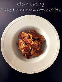 Baked Cinnamon Apple Chips - Clean Eating - Create Bake Celebrate