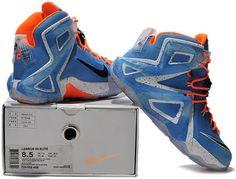 Nike Lebron 12 (XII) Blue Orange White1