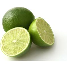 fresh limes on a white back ground ❤ liked on Polyvore featuring food
