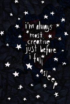 I'm always most creative just before I fall asleep! Good night! #GoodNight #BuenasNoches #estrellas #stars