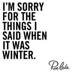 Really sorry.