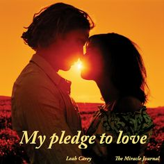 My pledge to love.  Maybe one of the most important things I've written in a while.  If it speaks to you, I hope you'll share it. http://www.themiraclejournal.com/2013/09/03/my-pledge-to-love/