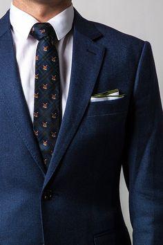 Plaid Fox Skinny Tie #tiesdotcom #mensfashion #ties #winter