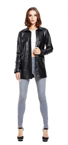leather shirt - oh yes please!