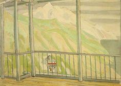 Ρέγκος Πολύκλειτος – Polykleitos Rengos [1903-1984] | paletaart - Χρώμα & Φώς Art Auction, Art Market, Balcony, Maine, Artwork, Artist, Painting, Home Decor, Painters