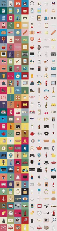 Nice Things es un pack de iconos gratuitos de gran belleza. Se compone de un total de 128 gráficos, en tres tamaños distintos y dos formatos: PNG y AI.