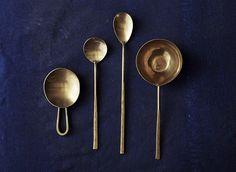 Japanese Brass Spoons