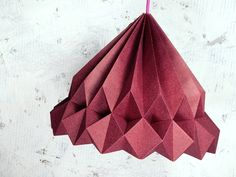 MISS DIGBY origami lampshade pendant ruby. €89.00, via Etsy.