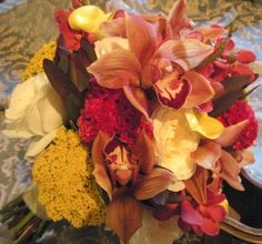 Orchids, yarrow & roses