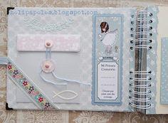 Hola! Un libro muy azul, pero así tenía que ser, los papeles los escogió mi cliente y no había opción...jajajaja pero me encanta...para ... Ideas Scrapbooking, Photo Album Scrapbooking, Mini Scrapbook Albums, Scrapbook Sketches, Scrapbook Bebe, Pregnancy Scrapbook, Baby Mini Album, Memory Album, Decorate Notebook