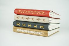 Leather Journal Leather Notebook Leather by PeonyandThistle