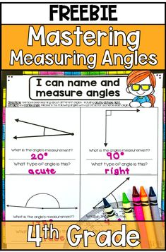 Tips for Measuring Angles and Identifying Types of Angles for Grade Math and Third Grade Math with free angle activities Life Skills Classroom, Math Classroom, Classroom Ideas, Teaching Geometry, Teaching Math, Teaching Ideas, 4th Grade Activities, Free Activities, Summer School