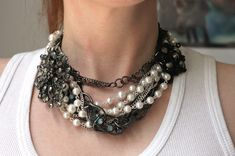 Styled by Tori Spelling Jewelry Components Review   and DIY Jumble Chain Choker Necklace