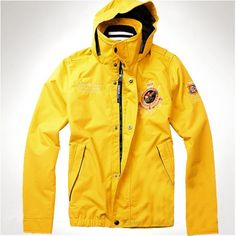 Ralph Lauren Full Zip Men Yellow Sporty Jackets  http://www.ralph-laurenoutlet.com/