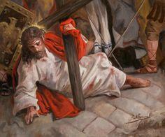 Jesus Christ: Via Crucis // © Raúl Berzosa // Jesus Our Savior, Jesus Art, Pictures Of Jesus Christ, Bible Pictures, Catholic Art, Religious Art, Religion, Image Jesus, Jesus Painting