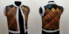 Ola design vest. (ola-handmade.com) #birchbark #handmade #design #vests #fur #suede #leather