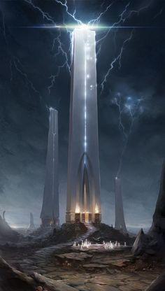 ideas for dark fantasy landscape rpg Dark Fantasy, Fantasy Concept Art, Fantasy City, Fantasy Places, Fantasy Kunst, Sci Fi Fantasy, Fantasy Artwork, Fantasy World, Space Fantasy