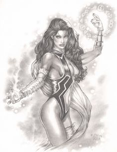 Giselle (CrosGen Mystic) by Tom Fleming. Fantasy Art Village Social Network for Fantasy, Pinup, and Erotic Art Lovers! Black White Photos, Black And White, Art Village, Wonder Woman, Erotic Art, Lovers Art, Mystic, Fantasy Art, Toms